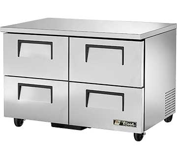 TRUE Undercounter Freezer 12 cu. ft. - TUC-48F-D-4-HC