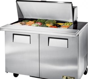 TRUE Mega Top Sandwich Prep Table 12 Cubic Ft. TSSU-48-18M-B