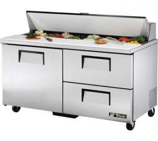 TRUE Sandwich Prep Table 15.5 Cu. Ft. TSSU-60-16D-2