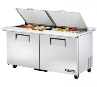 TRUE Dual Mega Top Sandwich Prep Table 15.5 Cu. Ft. TSSU-60-24MBDSST