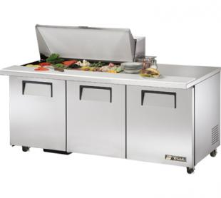 TRUE Mega Top Sandwich Prep Table 19 Cu. Ft. TSSU-72-18M-BADA