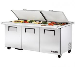 TRUE Dual Mega Top Sandwich Prep Table 19.0 Cu. Ft. TSSU-72-30MBDSST
