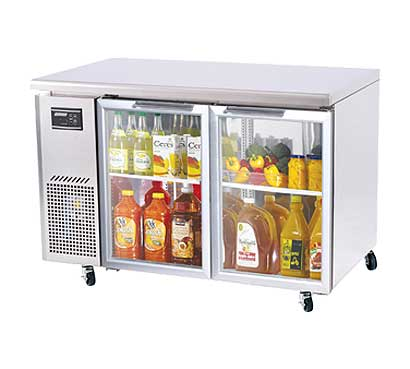 Turbo Air J Series Glass Door Undercounter Refrigerator 11 cu.ft. - JUR-48-G-N