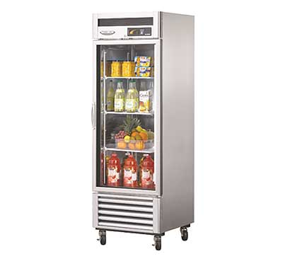 Turbo Air Maximum Single Door Glass Refrigerator