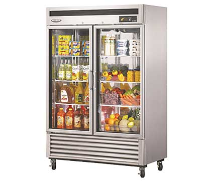 Turbo Air Super Deluxe Two Door Glass Refrigerator - TSR-49GSD-N