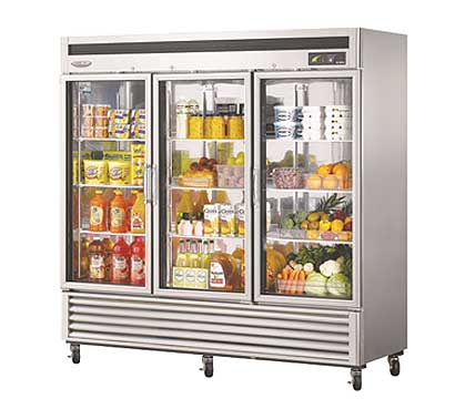 Turbo Air New Maximum Glass Door Refrig. 72 cu. ft. - MSR-72G-3