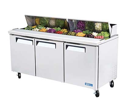 Turbo Air MST-72 Sandwich / Salad Refrigerator 3-Section