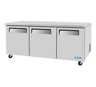 Turbo Air Under Counter Refrigerator 3-Section - MUR-72-N