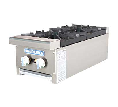 Turbo Air Radiance Gas Countertop Hot Plate - 2 Burners
