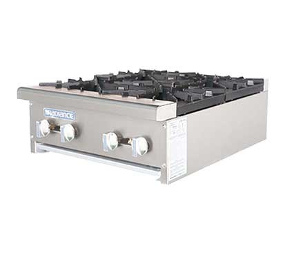 Turbo Air Radiance Gas Countertop Hot Plate - 4 Burners