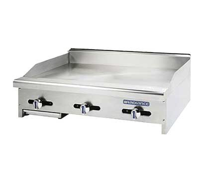 Turbo Air Radiance Countertop Gas Griddle - 3 Burners