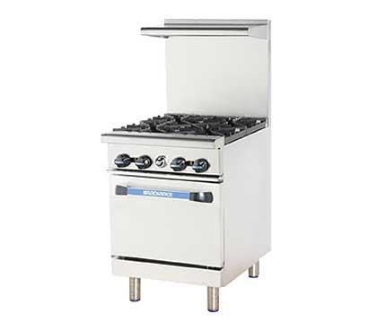 "Turbo Air Radiance Restaurant Range gas 24"" - TAR-4"