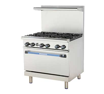 Turbo Air Radiance Gas Restaurant Range, 36 Inch - TAR-6