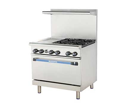 "Turbo Air Turbo Air Radiance Restaurant Range gas 36""W - TARG-12G4B"