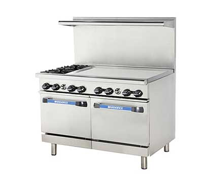 "Turbo Air Turbo Air Radiance Restaurant Range gas 48""W - TARG-36G2B"