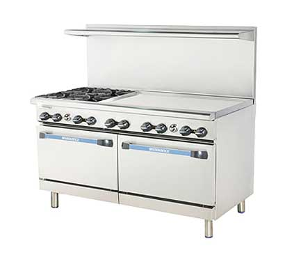 "Turbo Air Turbo Air Radiance Restaurant Range gas 60""W - TARG-4B36G"
