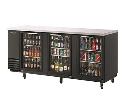 "Turbo Air Back Bar Cooler, 90.39"" Wide - TBB-4SG"