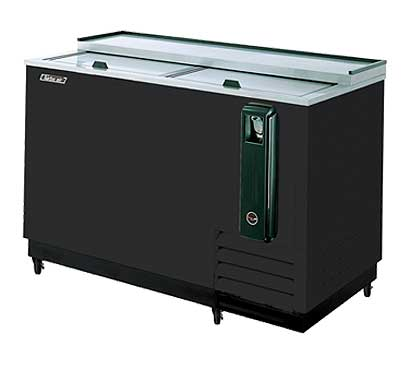 Turbo Air 50 Inch Black Bottle Cooler - TBC-50SB-N6