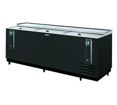 Turbo Air 95 Inch Black Bottle Cooler - TBC-95SB-N
