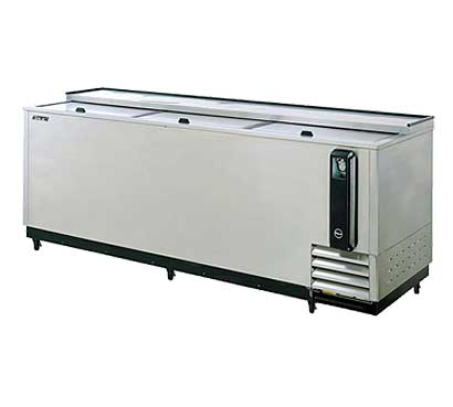 Turbo Air 95 Inch Stainless Steel Bottle Cooler - TBC-95SD-N