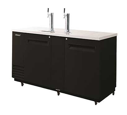 Turbo Air Beer Dispenser, 3 Keg, Black