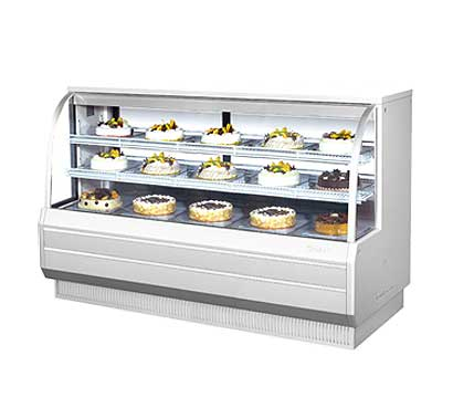 "Turbo Air Bakery Display Case, Dry & Refrigerated Combo, 72-1/2""W - TCGB-72-CO"