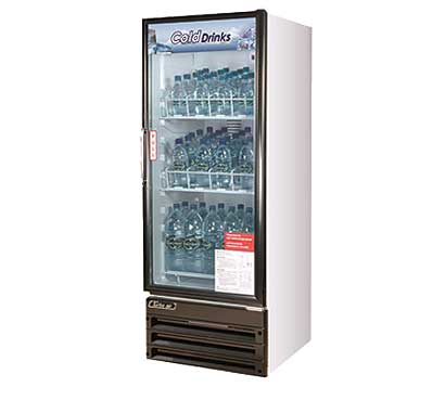 Turbo Air Glass Door Refrigerator - 1 Swinging Door, 11 Cu. Ft.