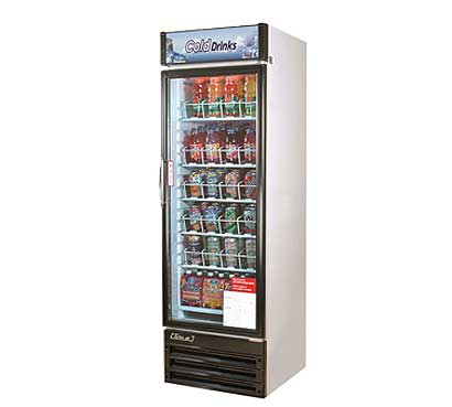 Turbo Air Glass Door Refrigerator - 1 Swinging Door, 14 Cu. Ft.