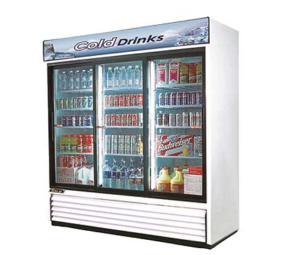 Turbo Air Glass Door Refrigerator TGM-69R - 3 Sliding Doors