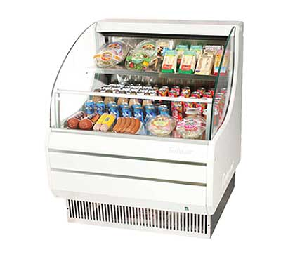 Turbo Air Horizontal Open Display Merchandiser low-profile - TOM-30LW-N