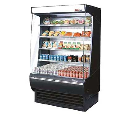 "Turbo Air Xtra Deep Vertical Open Display Merchandiser 36""L - TOM-36-DX"
