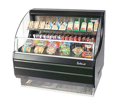 Turbo Air Horizontal Open Display Merchandiser low-profile - TOM-40LB