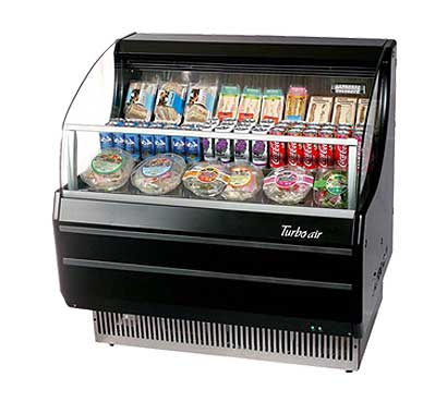 Turbo Air Horizontal Open Display Merchandiser slim-line - TOM-40SB-N