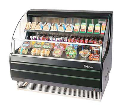 Turbo Air Horizontal Open Display Merchandiser low-profile - TOM-50LB-N