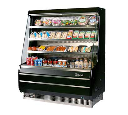 Turbo Air Turbo Air Open Display Merchandiser mid-height - TOM-50MB