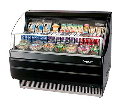 Turbo Air Horizontal Open Display Merchandiser slim-line - TOM-50SB