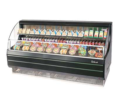 Turbo Air Horizontal Open Display Merchandiser low-profile - TOM-75LB