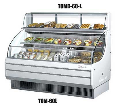 "Turbo Air Top Display Dry Case-Low Model 63-1/4 x 12-1/2"" x 13-3/4"" - TOMD-60L"