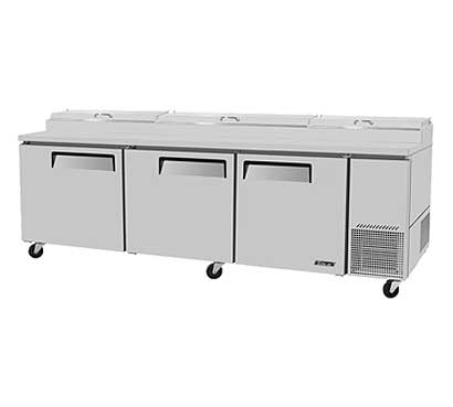 Super Delux Three Door Pizza Prep Table - TPR-93SD-N