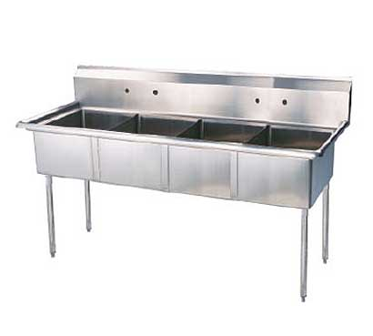 New Turboair Sink Four Compartment Deep High Splash Product Photo