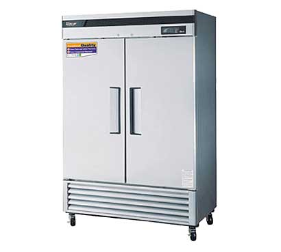 Stainless Steel Two Door Reach-In Freezer