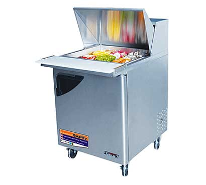 Turbo Air 28 Inch Super Deluxe Mega Top Sandwich Table - TST-28SD-12-N