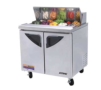 Turbo Air Deluxe Sandwich-Salad Unit 11 cu. ft. - TST-36SD-N6
