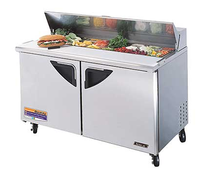 Turbo Air 60 Inch Super Deluxe Sandwich-Salad Unit - TST-60SD-N