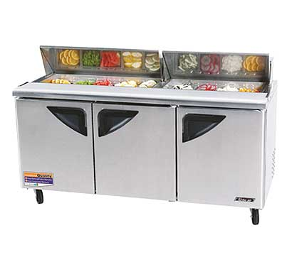 Turbo Air 72 Inch Super Deluxe Sandwich-Salad Unit - TST-72SD-N