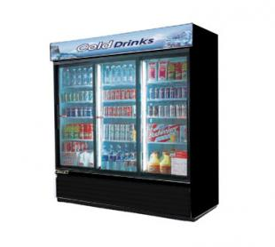 Turbo Air Refrigerated Merchandiser - Black Cabinet Exterior With Black Trim - TGM-69RB