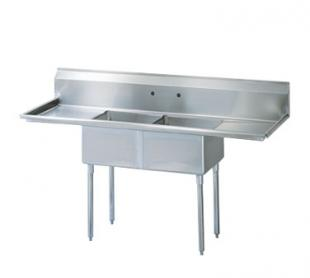 """Turbo Air TurboAir Sink Two Compartment 18"""" front-to-back x 18"""" wide sink compartments - TSA-2-14-D2"""