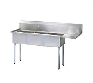 "Turbo Air TurboAir Sink Three Compartment 18"" front-to-back x 18"" wide sink compartments - TSA-3-12-R1"