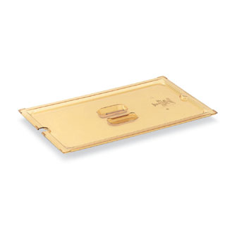 Vollrath Super Pan 3 Full Size Slotted Cover High-Temp AMBER Plastic - 34100