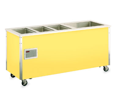 "Vollrath Signature Server Classic 34"" ADA Combination Hot/Cold Food Station three 12""x20""x6-3/8"" deep hot well openings & one 24-3/4""x19-3/8"" refrigerated cold pan opening - 37095"